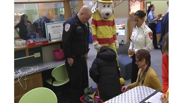 Firefighters Sparky The Fire Dog Among Visitors At Shriners Wednesday