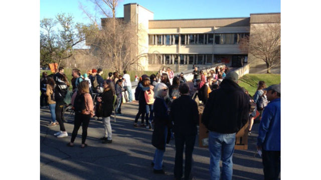 UMass protest ends peacefully, hundreds of students rally on campus