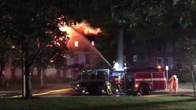Two families homeless after fire damaged buildings near Smith College in Northampton