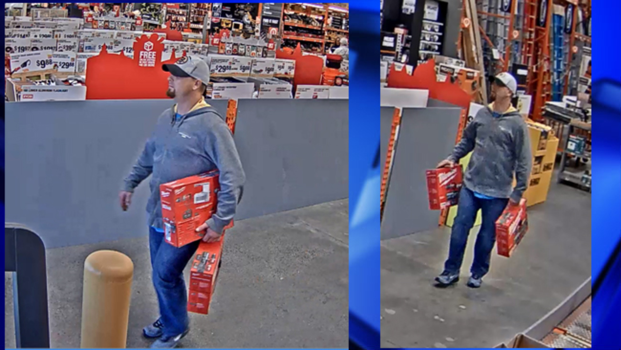 West Springfield Police Looking For Home Depot Theft Suspect
