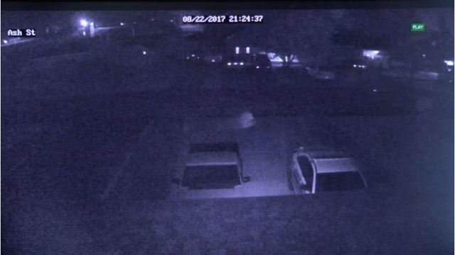 Couple says security camera captures image of a ghost