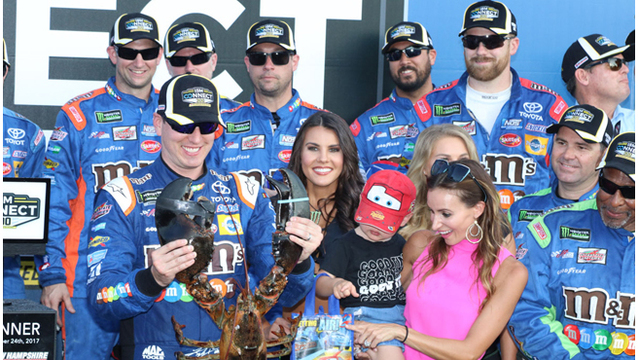 Kyle Busch wins at New Hampshire; Joe Gibbs Racing sweeps both races
