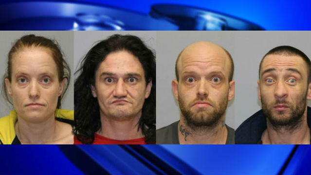 Meth, rifle recovered as 4 arrested in Cattaraugus County raid
