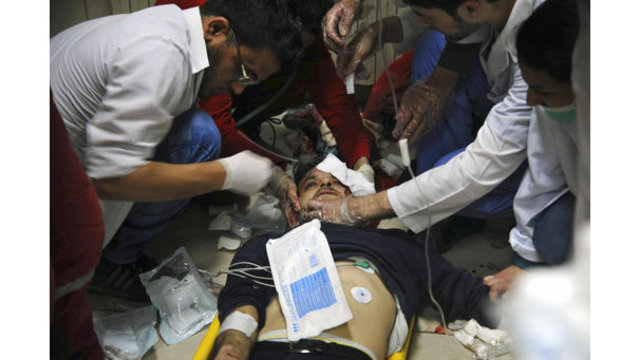 New strikes pound Ghouta after alleged gas attack