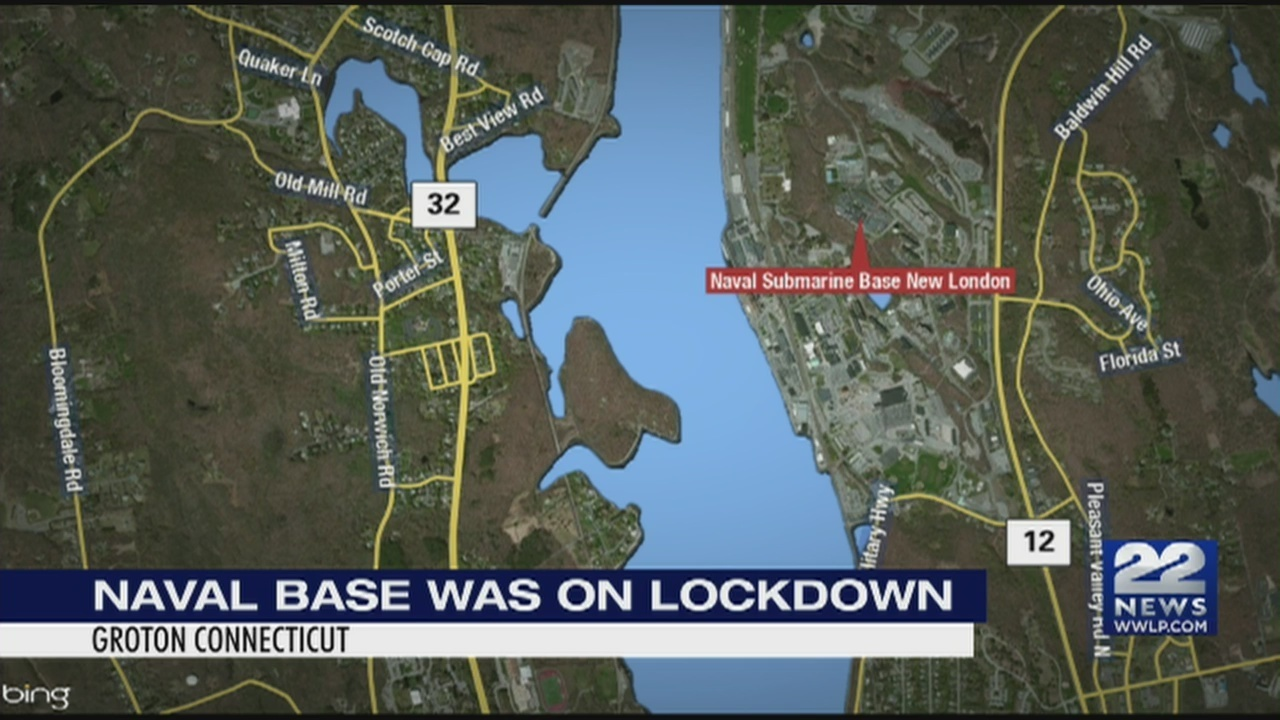 Naval Submarine Base In Groton Connecticut On Lock Down