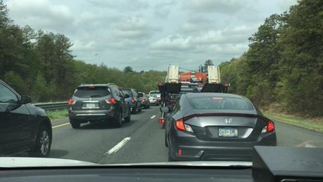 Delays on Mass Pike in Westfield due to construction