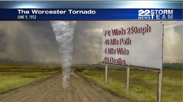 The Worcester Tornado touched down 65 years ago on June 9th