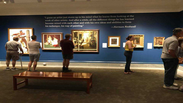 Works by Parrish, Wyeth, Rockwell highlight art connections