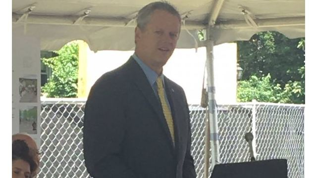 Baker at groundbreaking for new Amherst apartment complex