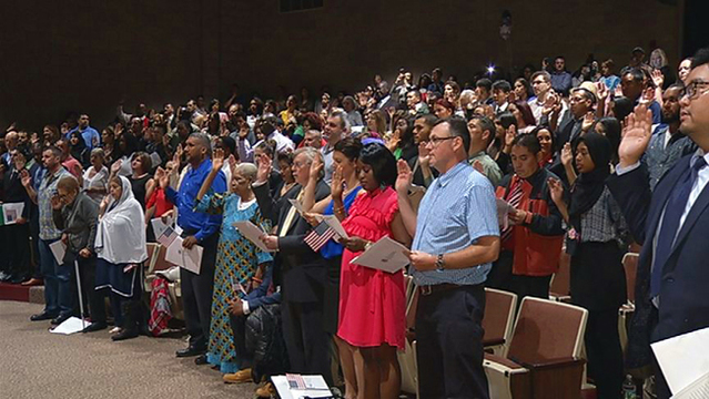 150 people become American citizens at naturalization ceremony in