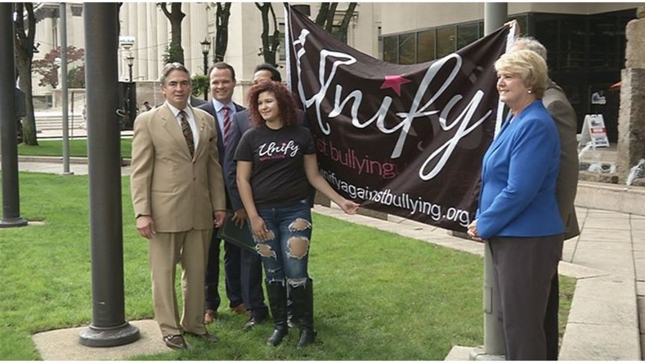 Unify Against Bullying flag raised in Springfield