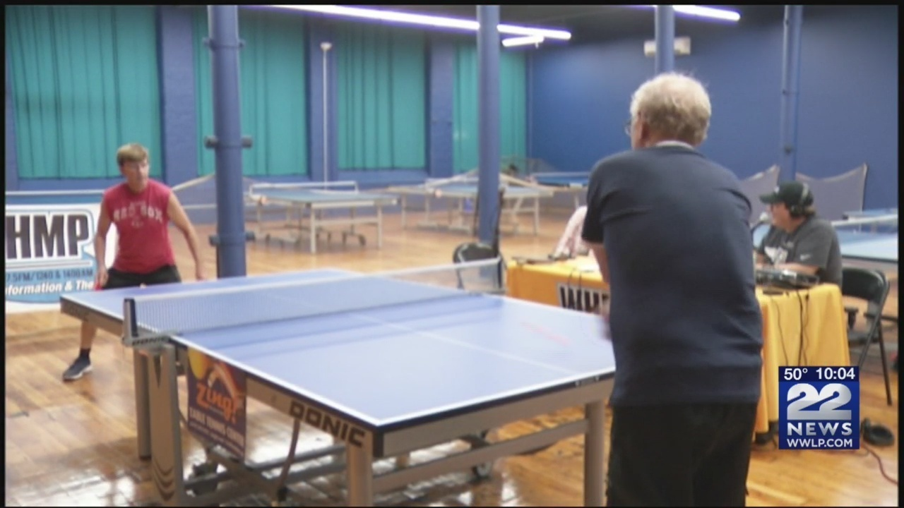 WHMP Radio host Bob Flaherty hosts ping pong games for charity