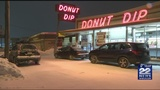 Local donut shop welcomes customers in weekend's overnight storm
