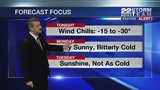 Winter storm ends, arctic air moves in