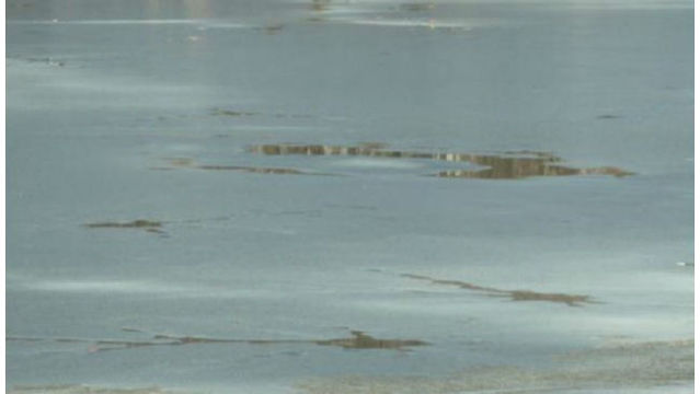 First responders warning residents to stay off the ice at all times