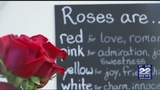 Some local residents spent Wednesday buying last-minute Valentine's Day gifts
