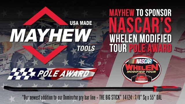 Turners Falls company to sponsor NASCAR Whelen Modified Tour Pole Award for 2019 season