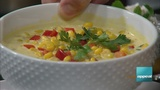 This vegan corn chowder makes a great meatless meal