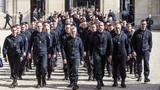 France honors Notre Dame firefighters&#x3b; protects rose window